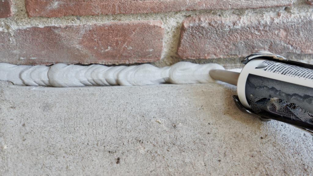 Sealed foundation crack