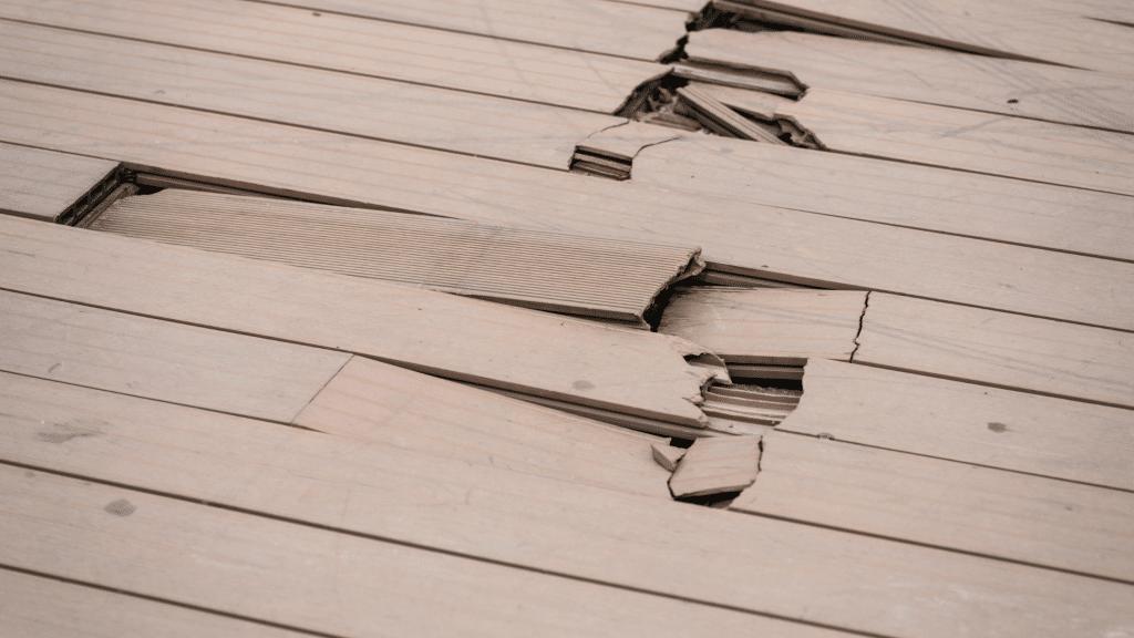broken wooden parquet