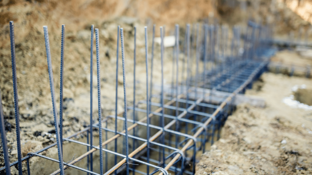 construction material for a foundation