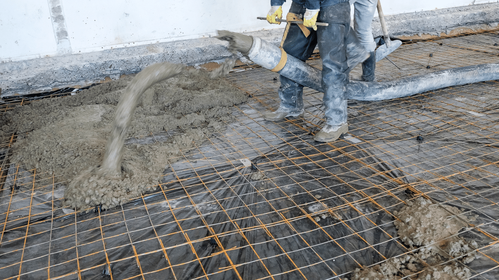 contractor pouring the foundation