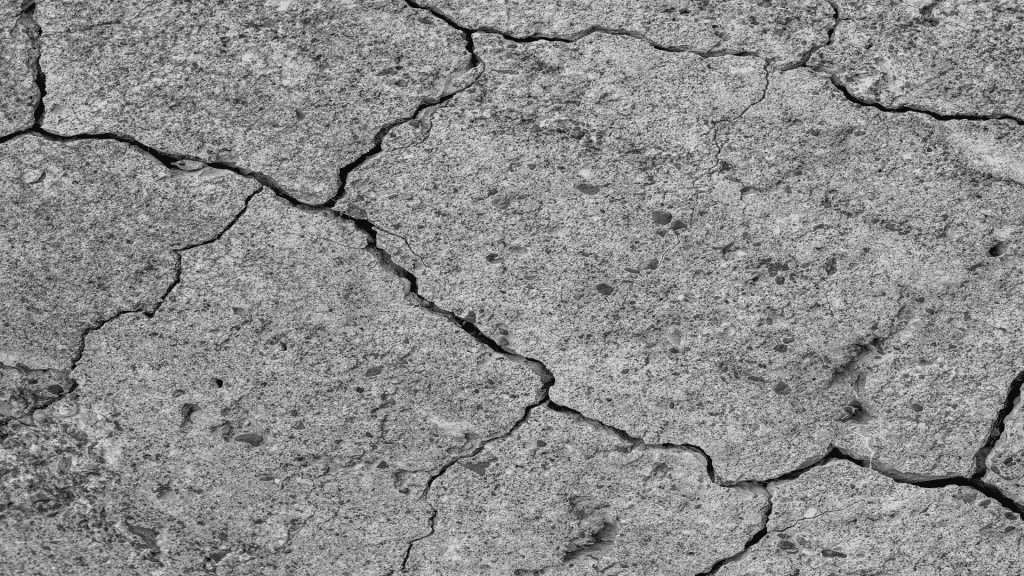 cracked sections of slab