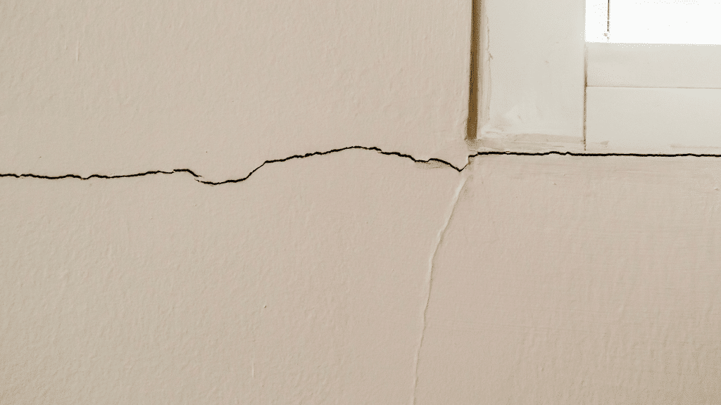 cracks around window frame