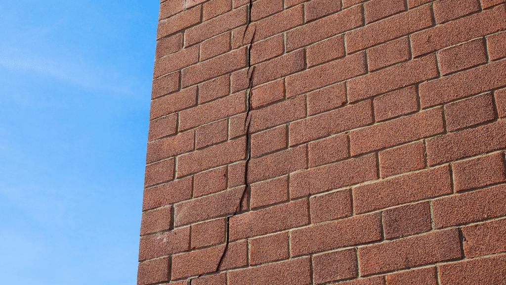 cracks in brick siding