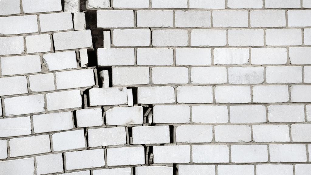 cracks in the bricks