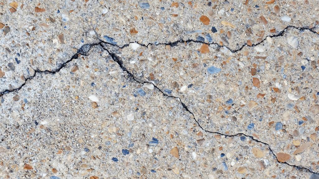 cracks in the concrete