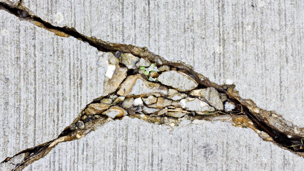 cracks in the slab foundation