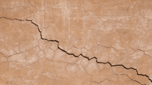 cracks in the soil