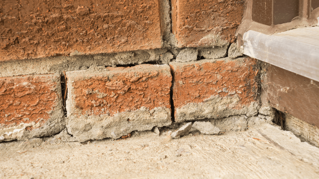 gaps in the foundation