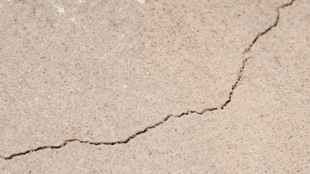 hairline cracks