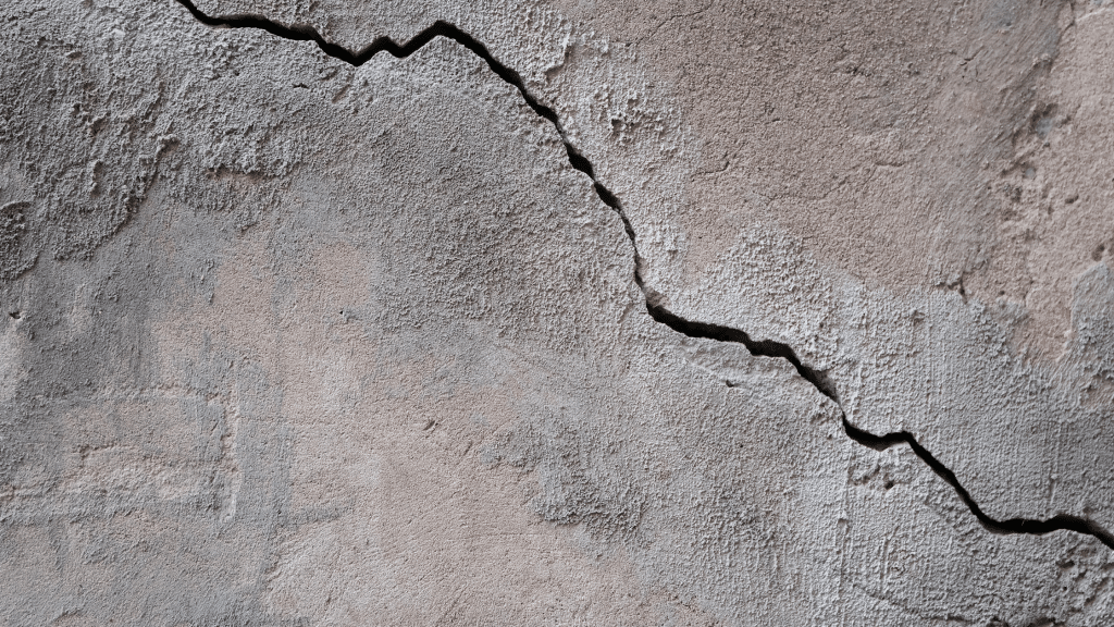 hairline surface crack