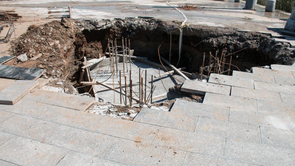 repairing a sinkhole