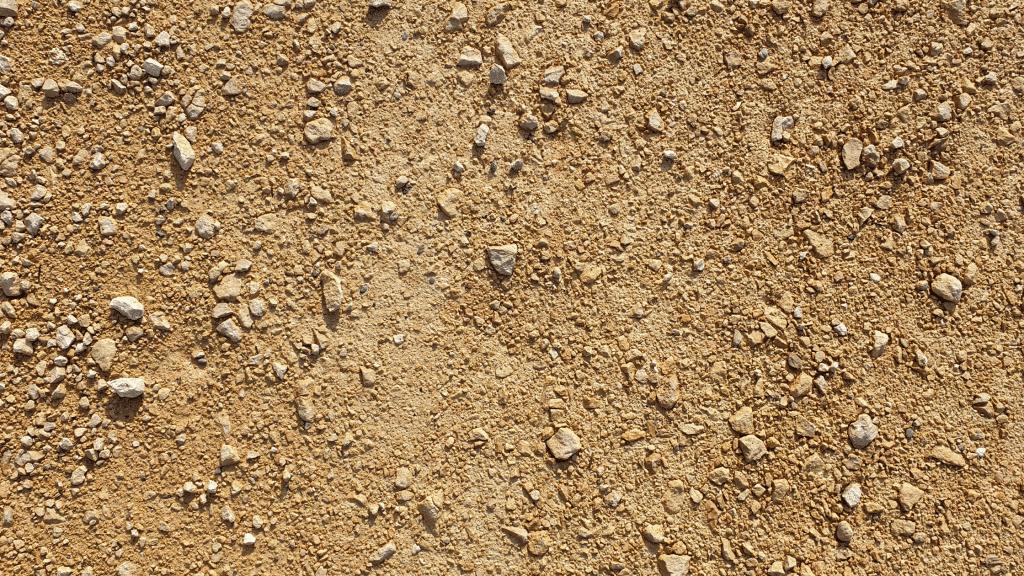sandy soil with rocks