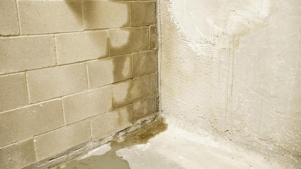 water spots on concrete