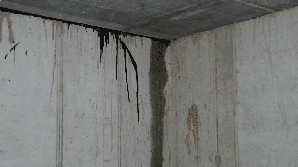 water vapor getting through foundation walls