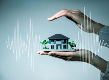 Seismic activity around a house