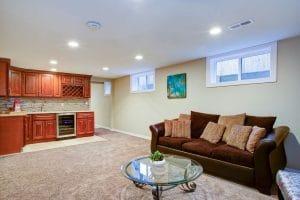 creating a cozy basement