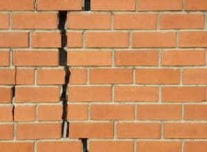 cracked bricks