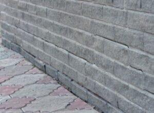 broken bricks wall