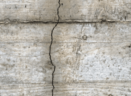 vertical crack on the foundation wall
