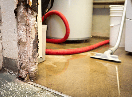 water leak on the floor