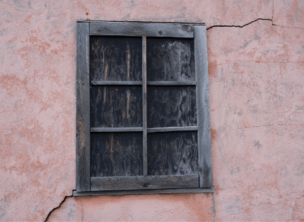 crack around window frame