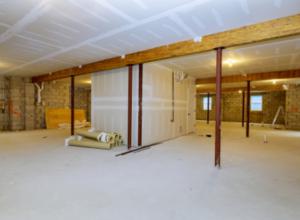Unfinished concrete basement shelter