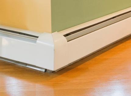 Baseboard radiator heating